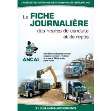 FICHE JOURNALIÈRE CAMIONNEUR